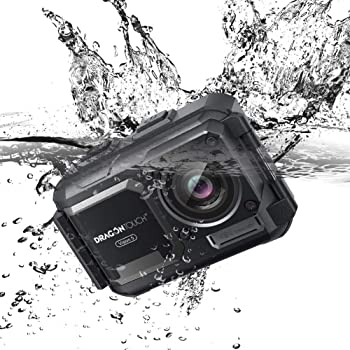 Dragon Touch Vision 5 4K Action Camera Waterproof 16MP Sports Underwater Camera Adjustable View Angle WiFi with Remote Controller and Mounting Accessories Kit
