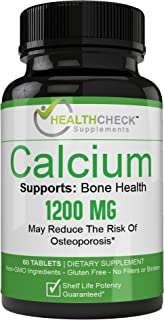 Remarkably Effective Pure Plant-Based Natural Calcium + D3 Supplement - Increase Bone Strength - All Natural Ingredients