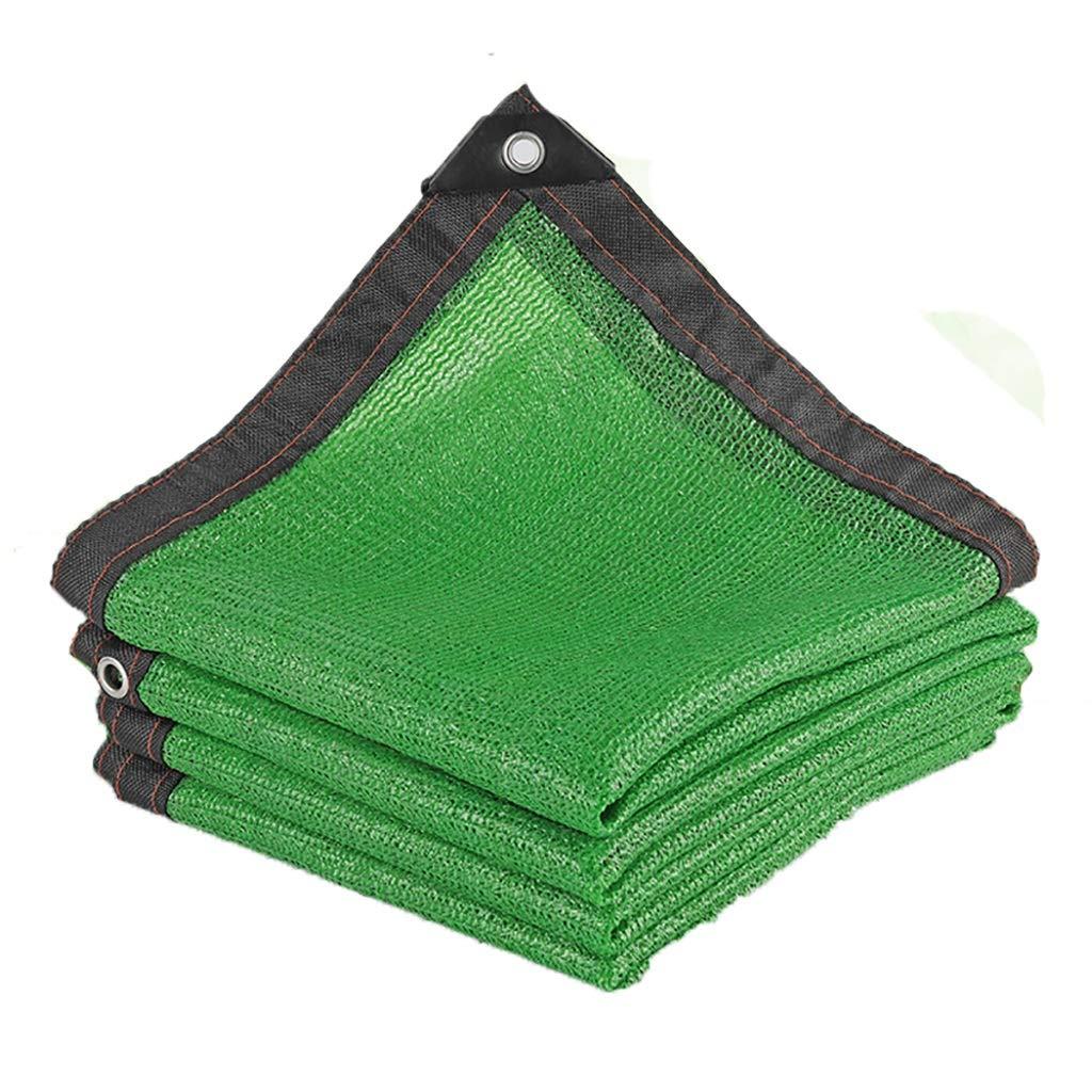 Tela de sombra Red de sombrilla verde de polietileno exterior Red de protección solar Jardín exterior