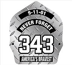 Firefighter 911 Never Forget 343 Diamond look Decal Vinyl Sticker 4