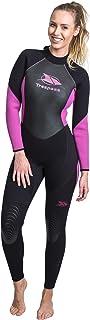 Trespass 女式 Aquaria 户外后部自拉链开合潜水服,黑色