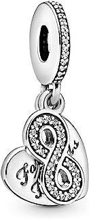 Pandora Women's Forever Friends Dangle Charm - 791948CZ, Sterling Silver