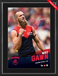 Sport Entertainment Products Max Gawn Signed Vertiramic