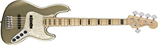 Fender American Elite Jazz Bass V - Champagne w/Maple Fingerboard