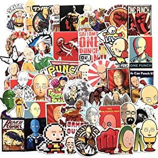 DOFE 50 PCS One Punch Man Stickers,Laptop Waterproof Stickers,Perfect to Laptop Luggage Car Motorcycle Bicycle,DIY Decoration for Kids and Adults. (50 PCS One Punch Man Stickers)