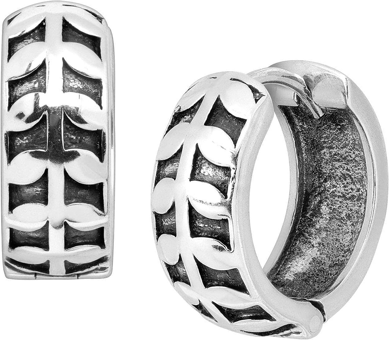 Very popular Silpada 'Broadleaf' Huggie Hoop Silver Sterling Animer and price revision in Earrings