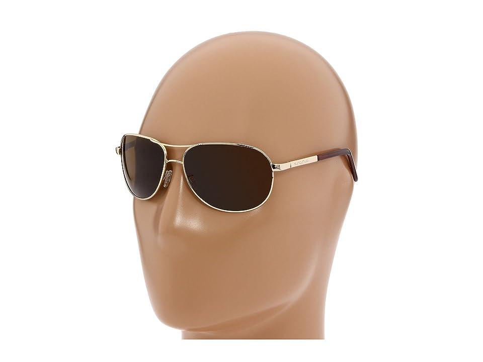 SunCloud Polarized Optics Aviator Polarized (Gold/Brown Polarized Lens) Sport Sunglasses