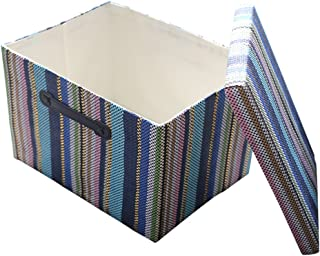 TheWarmHome Decorative Storage Box with Lid for Office Organizer|Decorative Storage Baskets Organizer Bins with Lids|Empty Gift Basket Toy Bin