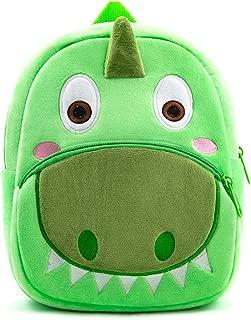 Nice Choice Cute Toddler Backpack Toddler Bag Plush Animal Cartoon Mini Travel Bag for Baby Girl Boy 1-6 Years (Green)