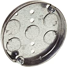 Hubbell-Raco 8293 1/2-Inch Deep, 1/2-Inch Bottom Knockouts 4-Inch Round Ceiling Pan