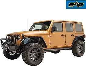 EAG Front+Rear Fender Flares Steel Fit for 18-19 Jeep Wrangler JL