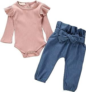 Mono de algod/ón y Lino para ni/ñas reci/én Nacidas Color Puro para beb/és de 0 a 18 Meses Borlai Baby Romper Kimono