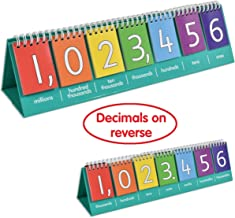 edx Education Student Place Value Flip Chart - Millions - Double-Sided with Whole Numbers and Decimals - Learn to Count by Ones, Tens, Hundreds, Thousands and Millions