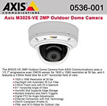 AXIS M3025-VE DAY/NIGHT MINI D OME - H.264 - HDTV1080P EDGESTOR (ITEM ALSO KNOWN AS : AXC-0536-001) [0536-001]