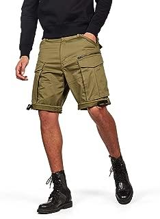 G-Star RAW Mens Rovic Zip Relaxed 1/2 Shorts - Black