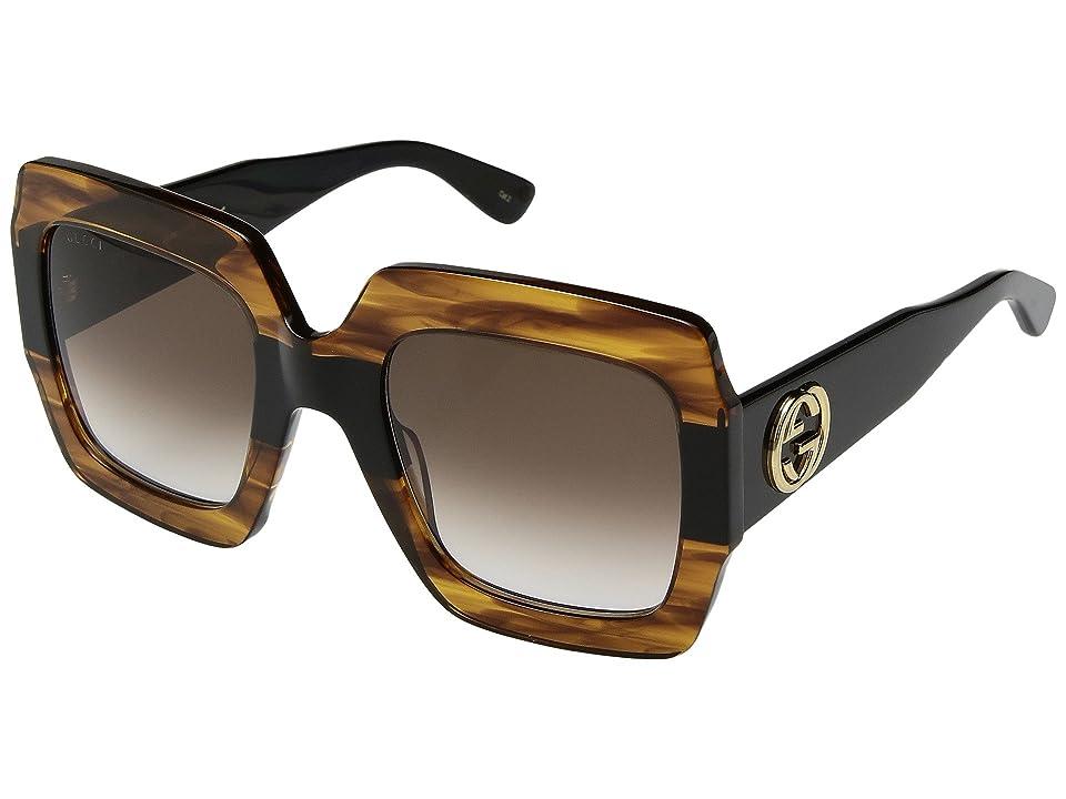 Gucci GG0178S (Havana/Brown) Fashion Sunglasses