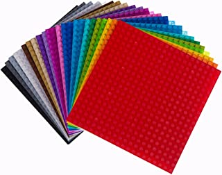 """Strictly Briks Classic Baseplates 6"""" x 6"""" Building Brick Baseplates 100% Compatible with All Major Brands 