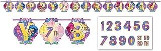 Amscan 121653 Ribbon Letter Banner | Shimmer & Shine Collection, Multicolor
