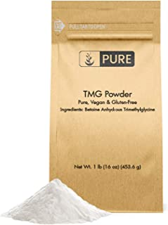 100% Pure Betaine Anhydrous Trimethylglycine (TMG) Powder, 1 lb, Vegan & Gluten-Free, Manage Homocysteine & Methyl Levels,...