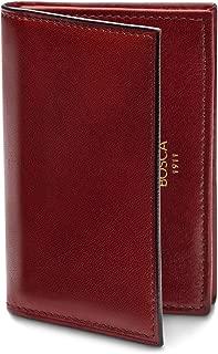 Bosca Men's Full Gusset, 2 Pocket Card Case with I.D.