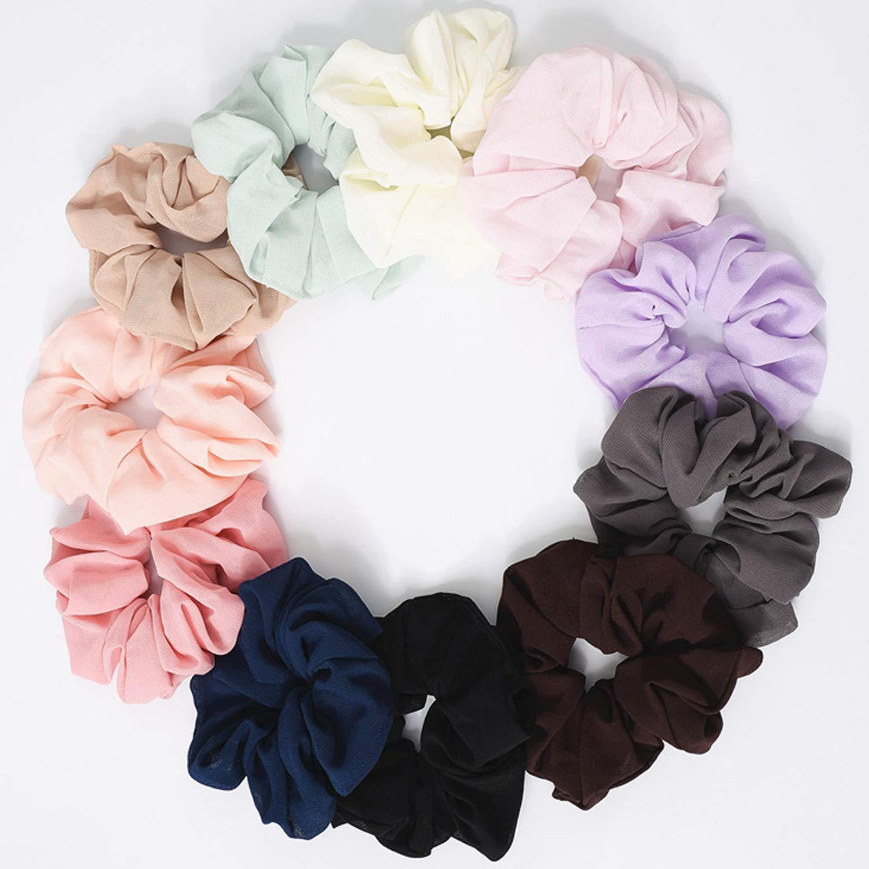 3 Große Chiffon Floral designer  scrunchie Haargummi aus Seidenbatik