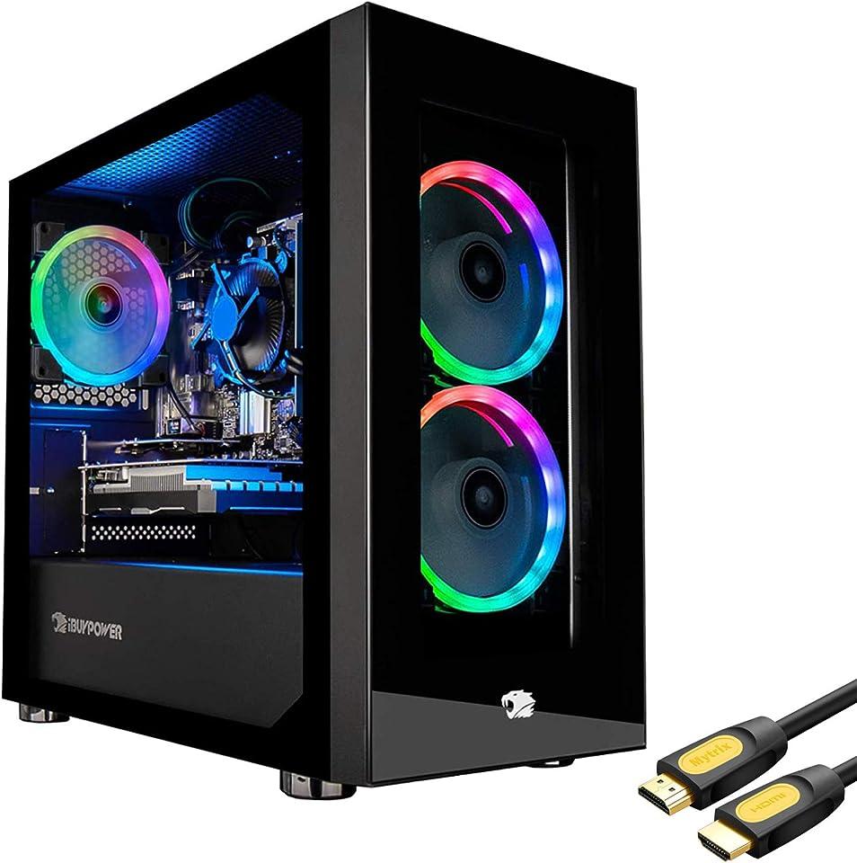 iBUYPOWER TracePro151A Gaming Desktop Computer, AMD Ryzen 7 3700X 3.6GHz, 16GB RAM, 1TB HDD+480GB SSD, NVIDIA GeForce RTX 2060 6GB, Windows 10 Home