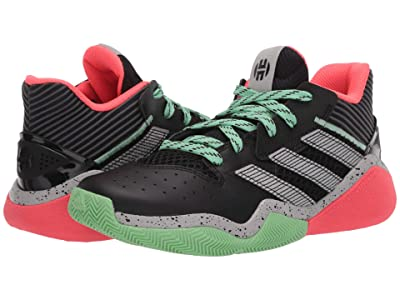 adidas Kids Harden Stepback Basketball (Big Kid) (Core Black/Grey Two/Glory Mint) Kids Shoes