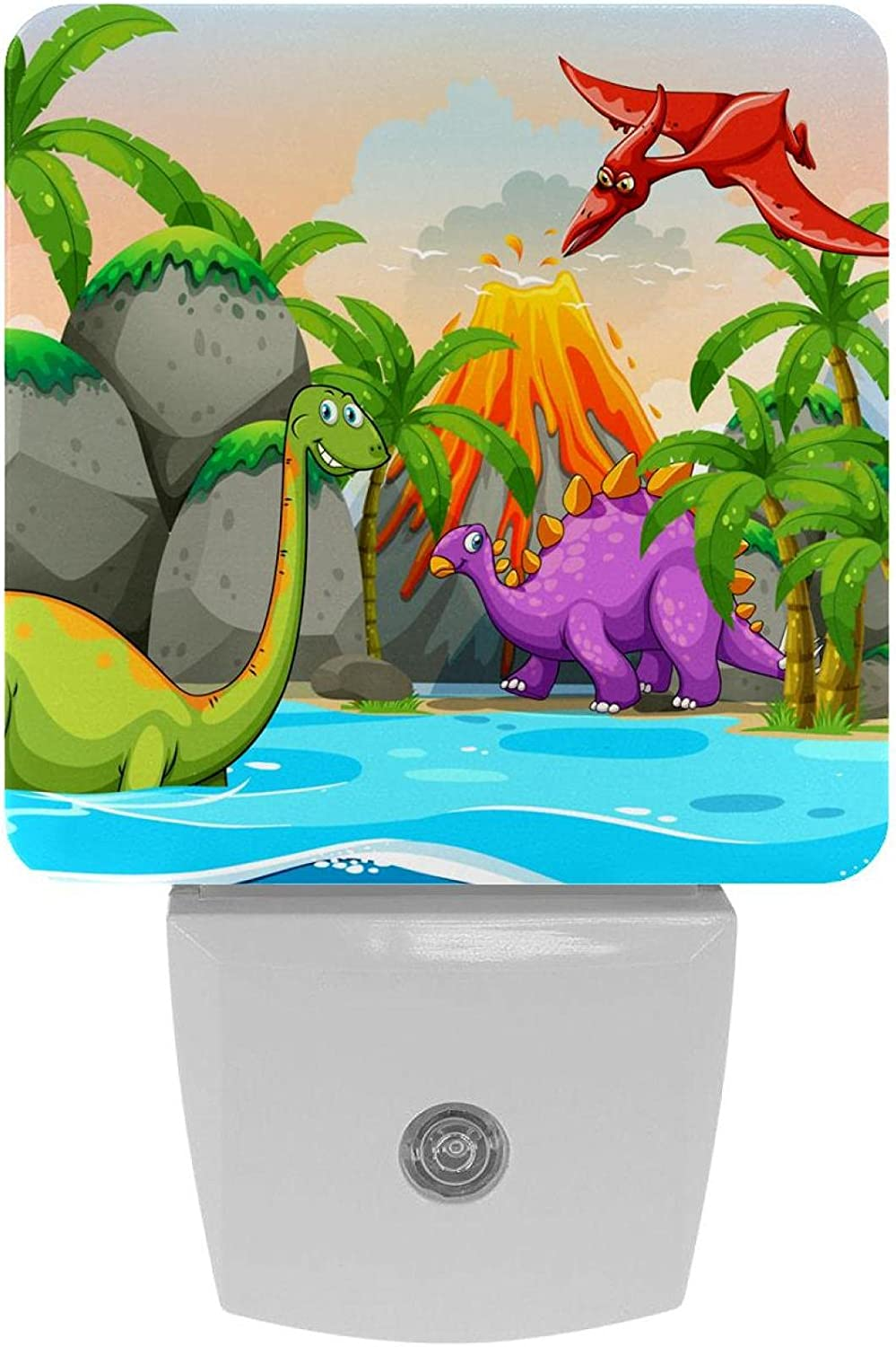 2 Pack Plug-in Nightlight LED OFFicial Night D Nature Dinosaur Direct store with Light