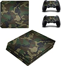 eSeeking Full Body Protective Vinyl Skin Decal For PS4 Pro Console and 2PCS PS4 Pro Controller skins Stickers Jungle Camou...