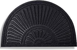 Mibao Half Round Door Mat, Rubber Doormats Welcome Entrance Way Mat, Heavy Duty Semicircle Door mats, Non-Slip Durable Lo...
