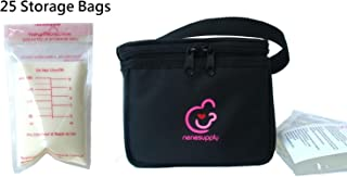 Nenesupply Bottle Bag Cooler/Breastmilk Cooler Bag and 25 Count 6oz Breastmilk Storage Bags. Cooler Bag Can Fit Into Carry-all Totes of Medela Pump in Style and Medela Freestyle Breastpumps