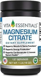 Vita Essentials Magnesium Citrate Powder, 1 Pound