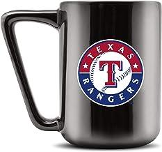 Duck House MLB TEXAS RANGERS Ceramic Coffee Mug - Metallic Black, 16oz