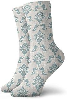tyui7, Restaura los patrones decorativos azules antiguos Calcetines de compresión antideslizantes Calcetines deportivos acogedores de 30 cm para hombres, mujeres y niños