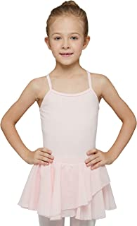MdnMd Camisole Ballet Dance Leotard with Skirt for Toddler Girls