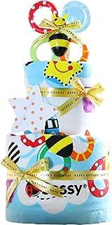 Sassy サッシー 出産祝い 身長計付き バスタオル 豪華2段 おむつケーキ パンパース テープタイプ S 手作り 女の子 男の子 男女兼用