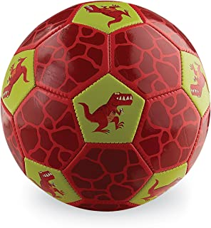 Crocodile Creek - Dinosaur Size 3 Soccer Ball - Ships Inflated, Durable Outdoor Toy for Active Play and Beginner Sports, Designed for Kids Ages 4 Years and Up, Red, 7""