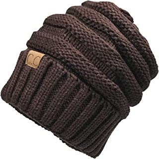 63bfdee2d1b24b Unisex Winter Knitted Wool Cap Women Men Folds Casual CC Labeling Beanies  Hat Solid Color Hip