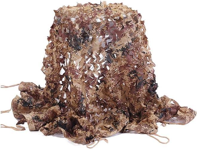 Filet Pare-Soleil Filet De Prougeection Solaire 2 X 3m De Tissu Oxford De Camouflage, Adapté Au Camping Militaire Caché Photographie Décoration Chasse en Plein Air (Multi-Taille en Option)