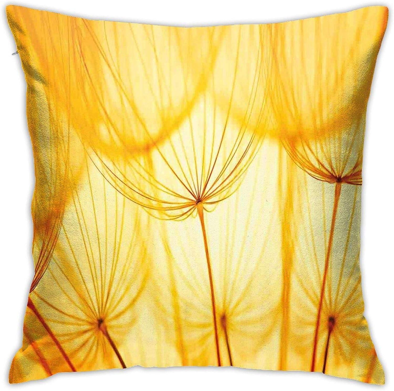ETHAICO Decorative Throw Pillow We OFFer at [Alternative dealer] cheap prices Cover Ga of Joy Dandelion Flower