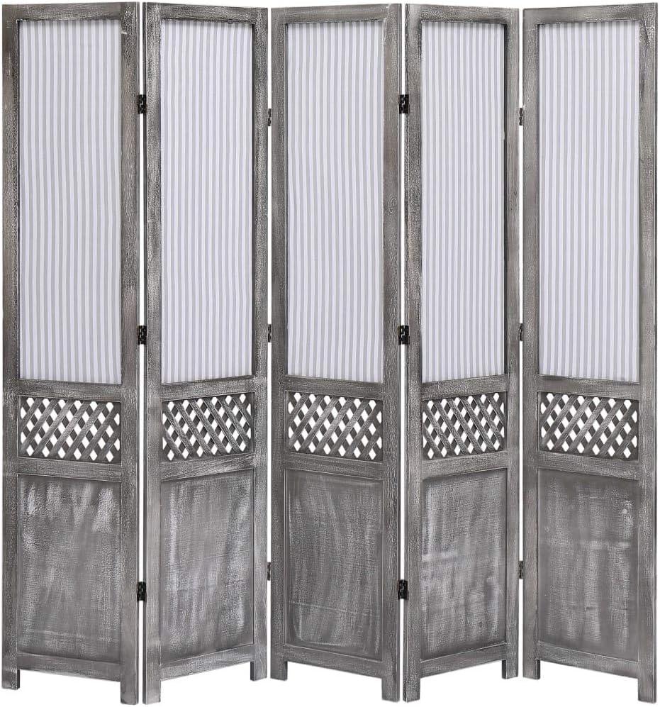 vidaXL Biombo de 3 Paneles Tela Divisor Ambiente Privacidad Delicada Atractiva Soluci/ón Ideal Elegante Decoraci/ón Partici/ón /Útil Blanca 105x165cm