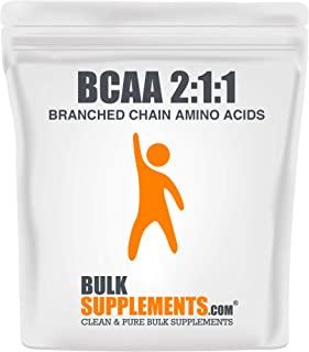 BulkSupplements.com BCAA 2:1:1 (Branched Chain Amino Acids) (500 Grams - 1.1 lbs - 333 Servings)