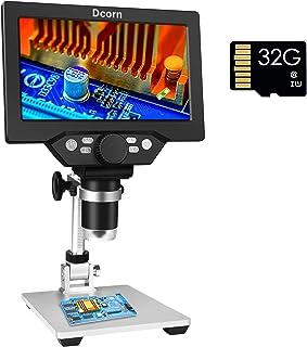 "7"" LCD Digital Microscope Camera with 32GB TF Card 1080P USB Video Microscopes 1200X Magnification Microscopio for Adults ..."