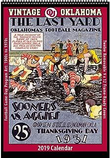 Vintage Oklahoma Sooners 2019 College Football Calendar