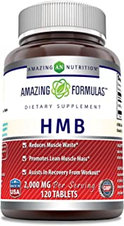 Sponsored Ad - Amazing Formulas HMB 2,000 MG - 60 Servings - Supports Lean Muscle Mass - Boosts Workout Recovery Time -120...