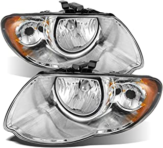 ACANII - For Chrome 2005-2007 Chrysler Town & Country Headlights Headlamps 05 06 07 Replacement Driver + Passenger Side