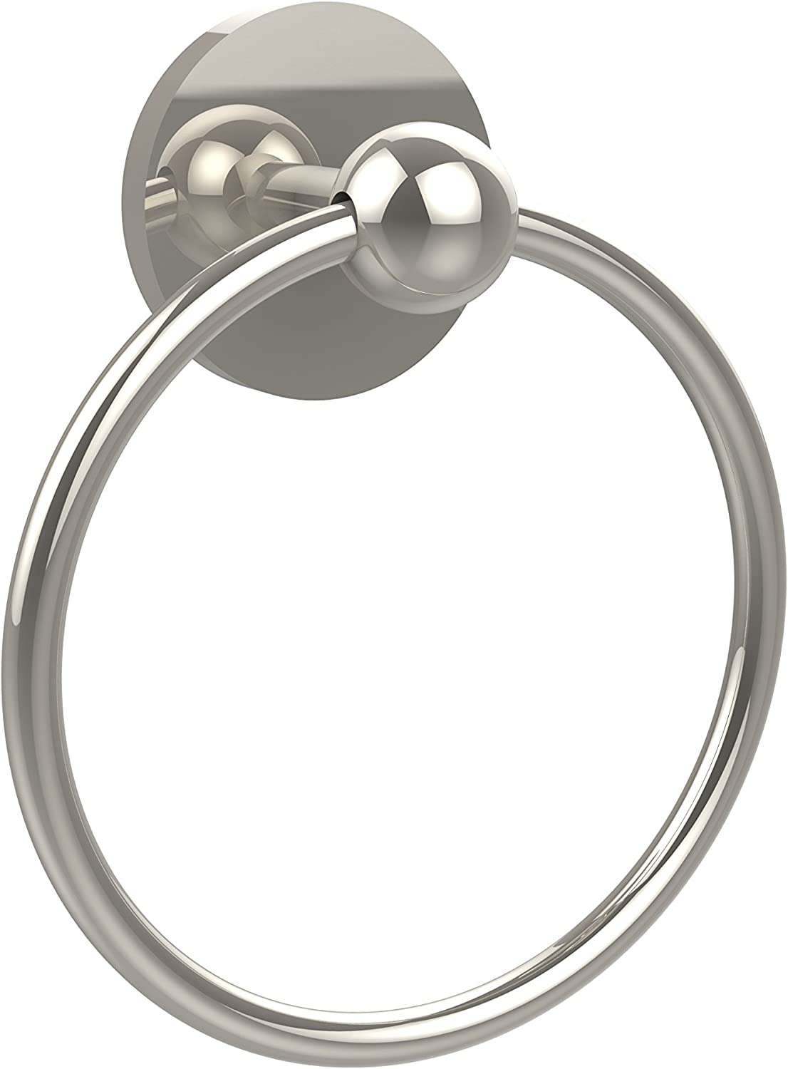 Allied Brass P1016-PNI 6-Inch Towel Ring, Polished Nickel