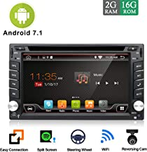 Android 7.1 WiFi Model 4-Core 2G RAM 16G ROM Double din Car DVD Player Stereo GPS Navigation for Universal car with Free Camera Support Mirror Link/DAB/OBD/FM/AM/SD USB Up to 128GB