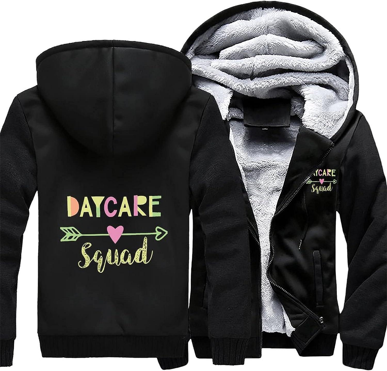 Daycare Squad Men's hoodie fleece winter Max 82% OFF warm Inexpensive jacket