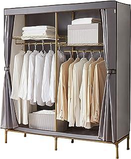 Penderie Oxford garde-robe offrant une armoire portable pour suspendre les vêtements Grand double double suspendue Tige de...